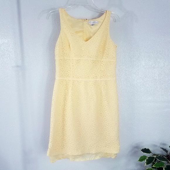Petite Sophisticate Dresses Yellow Lace Sundress Poshmark